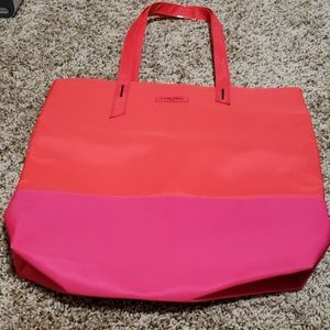 Nwot Lancome red and hot pink tote bag.